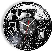 Horloge Murale de Magasin Cousue à la Main en