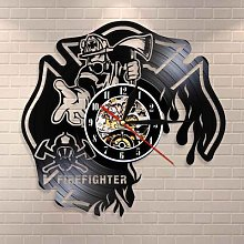 Horloge murale de pompier, décoration murale de