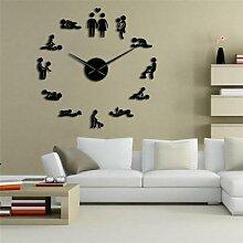 Horloge murale de Position sexuelle, grande