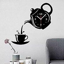 Horloge murale de raxinbang Théière Créative En