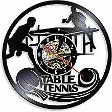Horloge Murale de Tennis de Table Suspendue Noire