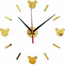 Horloge murale digitale Cartoon Mur Coller Horloge