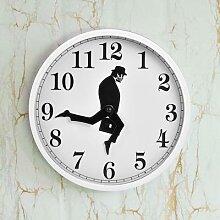 Horloge murale, drôle, silencieuse, pour la