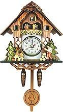 Horloge Murale en Bois, Coucou en Forme