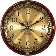 Horloge murale en bois de luxe, en métal, Style