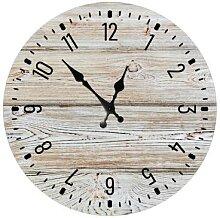 Horloge murale en bois Vintage minimaliste,