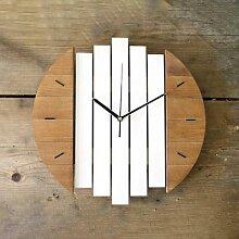 Horloge murale en bois Xylophone, Design moderne,