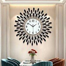 Horloge murale en cristal 3D, grande taille, Style