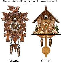 Horloge murale en forme de coucou pour salon,
