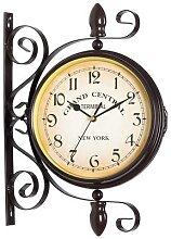 Horloge murale en métal à Double Face, Vintage,