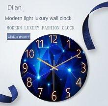 Horloge murale en verre pour salon, montre de