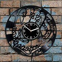 Horloge murale en vinyle avec gant de baseball -