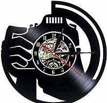 Horloge murale en vinyle avec LED - Design moderne