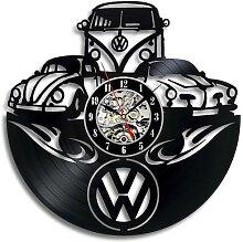Horloge murale en vinyle avec Logo de voiture,