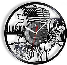 Horloge Murale en Vinyle de Style Vintage adaptée