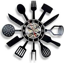 Horloge murale en vinyle, Design moderne,