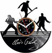 Horloge murale en vinyle Elvis Presley