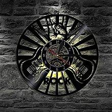 Horloge Murale en Vinyle Instrument de Guitare