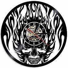 Horloge Murale en Vinyle LED, Horloge, Flamboyant,