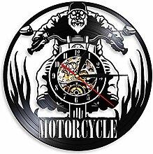 Horloge Murale en Vinyle Moto, Horloge Murale
