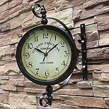 Horloge Murale Extérieure Double Face, Horloge