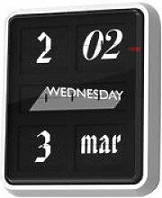 Horloge murale Font Clock / Calendrier -