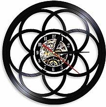 Horloge murale géométrique en forme de fleur de