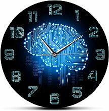 Horloge Murale Grand Code Binaire Art Intelligence