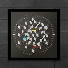 Horloge murale hexagonale de Table, Art graphique