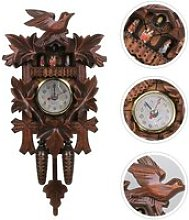 Horloge murale horloge en bois décor accessoires