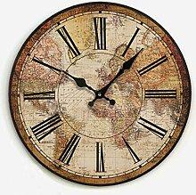 Horloge Murale Horloge murale de la carte du