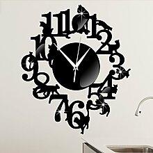 Horloge murale - Horloge murale silhouette de chat