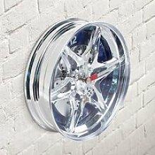 Horloge Murale Jante Automobile à led bleue