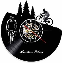 Horloge murale LED en vinyle pour vélo de