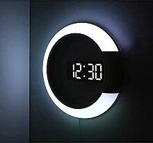 horloge murale LED Horloge murale Thermomètre