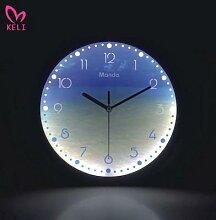 Horloge murale lumineuse et silencieuse de 12