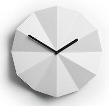 Horloge murale minimaliste Delta Clock blanc par