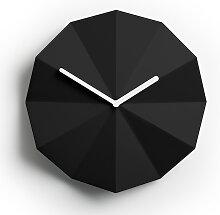 Horloge murale minimaliste Delta Clock noir par