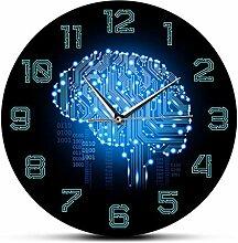 Horloge murale Moderne Minimaliste Code binaire