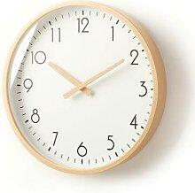 Horloge murale nordique en bois, mécanisme de