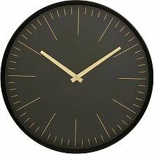Horloge murale Onyx noir et or