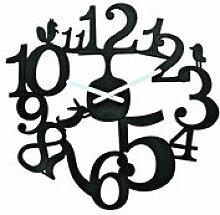 Horloge murale PI:P - Koziol noir en matière