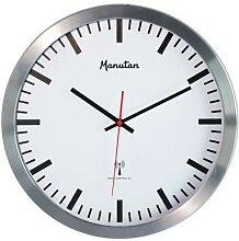 horloge murale radio-pilotée blanche
