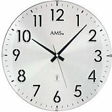 Horloge murale radio-pilotée en aluminium