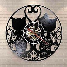 Horloge murale sans chat, maison, pendaison de
