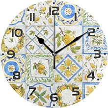 Horloge murale silencieuse à quartz avec motif