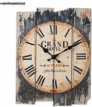 Horloge murale silencieuse, grand format 30x40cm,