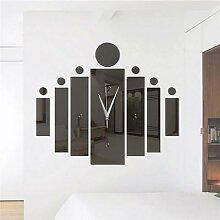 Horloge murale silencieuse industrielle 3D,