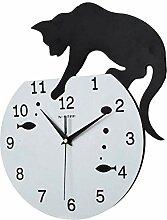 Horloge murale silencieuse motif chat grimpan
