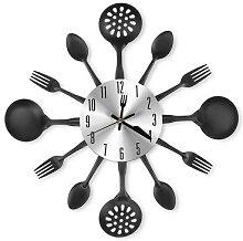 Horloge murale silencieuse, thème de vaisselle de